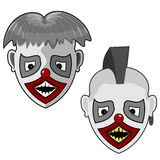 Two ghostly face Royalty Free Stock Images