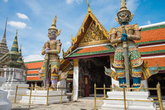 The two giant in Wat Pra Kaew, Thailand Stock Photography
