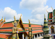 TWO GIANTS IN WAT PHRA KAEW Stock Photos