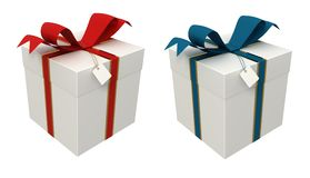 Two gift box Stock Photography