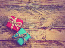 Two gift box Royalty Free Stock Photography
