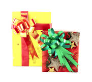 Two gift box with ribbon Royalty Free Stock Photos