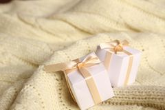 Two gift boxes Stock Images