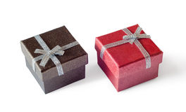 Two gift boxes Royalty Free Stock Photo