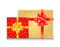 Two gift boxes with bows Royalty Free Stock Photos