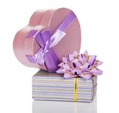 Two gift boxes Royalty Free Stock Photography