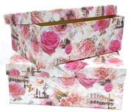 Two gift boxes with the floral print royalty free stock photo