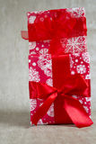 Two gift boxes red Royalty Free Stock Images