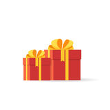 Two gift boxes Royalty Free Stock Image
