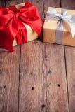 Two gift boxes Stock Photos
