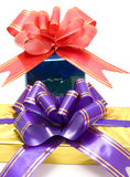 Two gift boxex Royalty Free Stock Images