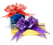 Two gift boxex Stock Images