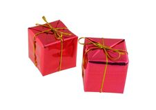 Two gifts stock photos