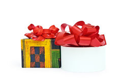 Two gifts. Isolated two gifts on a white background Royalty Free Stock Image