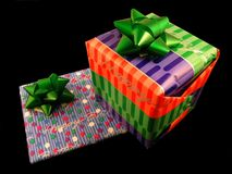 Two gifts. Two wrapped gifts Royalty Free Stock Images
