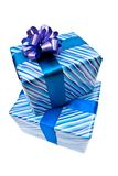 Two gifts boxes with bow Royalty Free Stock Photography