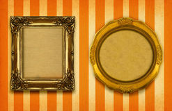 Two gilded frames Stock Photos