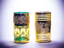 Two gilt cups Stock Photo
