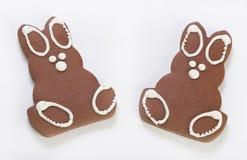Two Gingerbread Bunnies Stock Photos