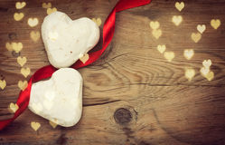 Two gingerbread heart shape Royalty Free Stock Photos