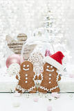 Two gingerbread man Royalty Free Stock Images