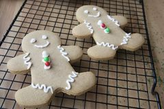 Two Gingerbread Men stock image