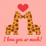 Two Giraffe Kiss Stock Photography
