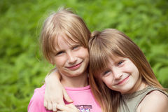 Two girl child Stock Images
