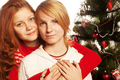 Two girl friends. Stock Images