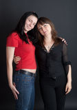 Two girl-friends Stock Photos