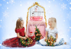 Two girl-friends royalty free stock photo