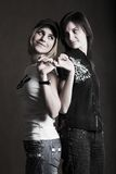Two girl-friends Royalty Free Stock Photography