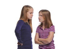 Two girl resolving a conflict Royalty Free Stock Photography