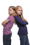 Two girl resolving a conflict Royalty Free Stock Photos