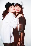 Two girl singers Royalty Free Stock Images