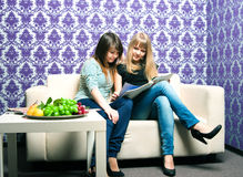 Two girlfriends Royalty Free Stock Images