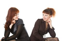 Two  girlfriends Royalty Free Stock Photos