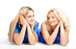 Two girlfriends Stock Image