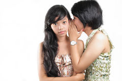 Two girlfriends chat Royalty Free Stock Photography