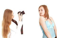 Two girlfriends having fun Royalty Free Stock Photos