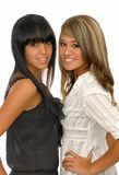 Two girls smiling. Picture of two beautiful young girls Royalty Free Stock Photos