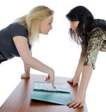 Two girls. Royalty Free Stock Images