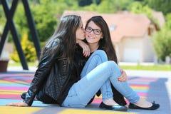 Two_Girls 免版税图库摄影