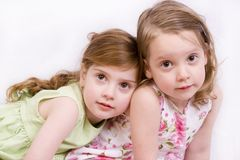 Two girls. Portrait of sisters Royalty Free Stock Images