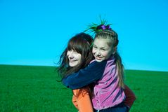 Two girls Royalty Free Stock Photo
