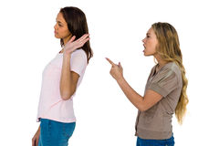 Two girls arguing Stock Images