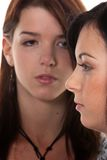 Two girls after an argument Royalty Free Stock Image