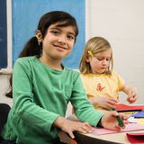 Two Girls in Art Class Stock Photography