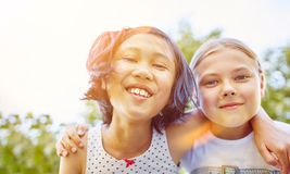 Two girls as friends Stock Image