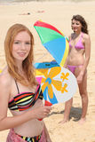 Two girls on the beach Royalty Free Stock Image